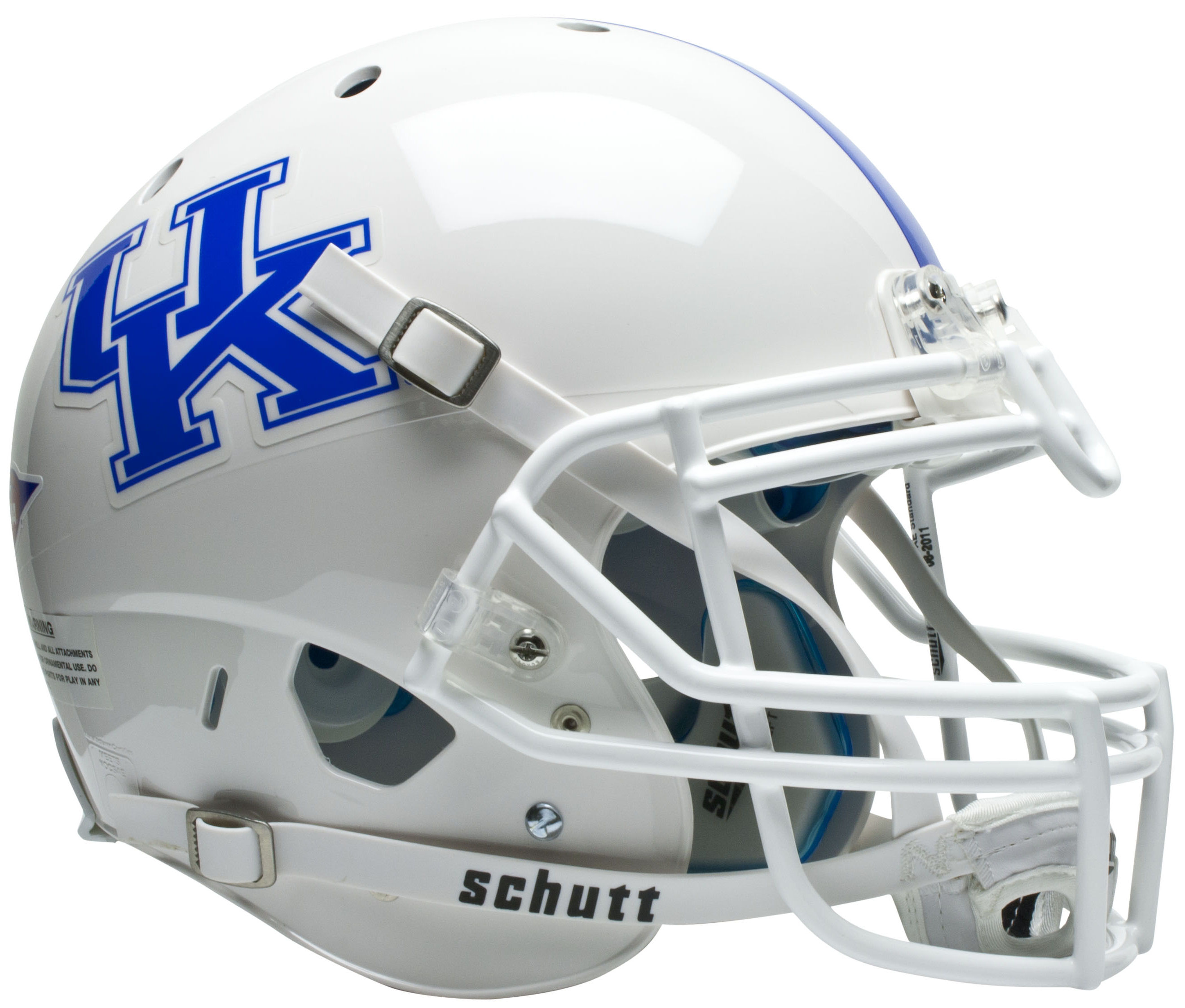 Kentucky Wildcats Authentic College XP Football Helmet Schutt <B>White</B>