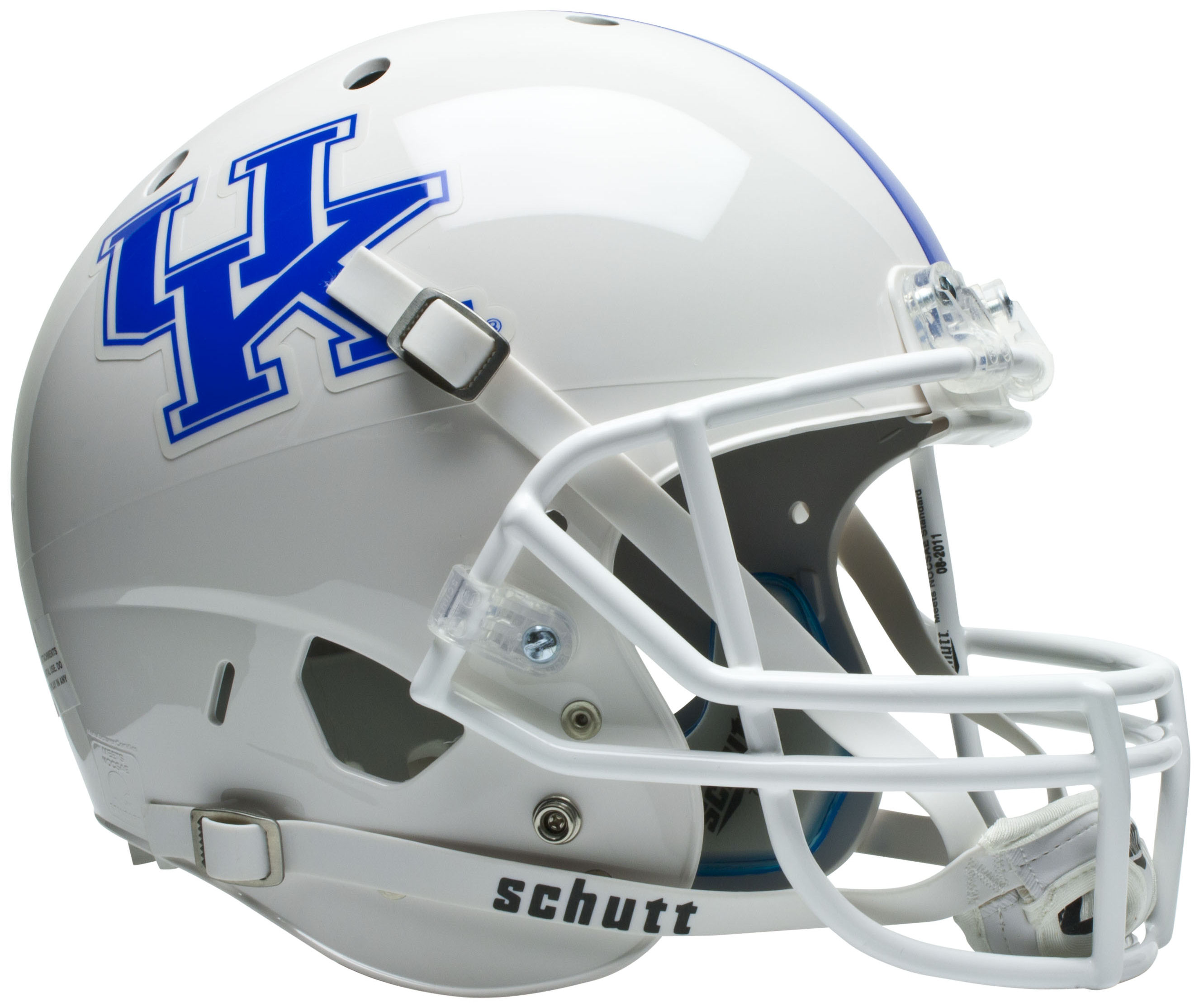 Kentucky Wildcats Full XP Replica Football Helmet Schutt <B>White</B>