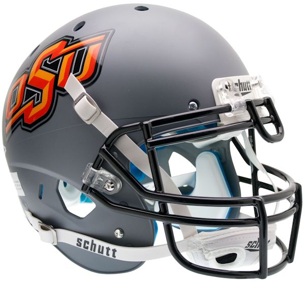Oklahoma State Cowboys Authentic College XP Football Helmet Schutt <B>Matte Gray</B>