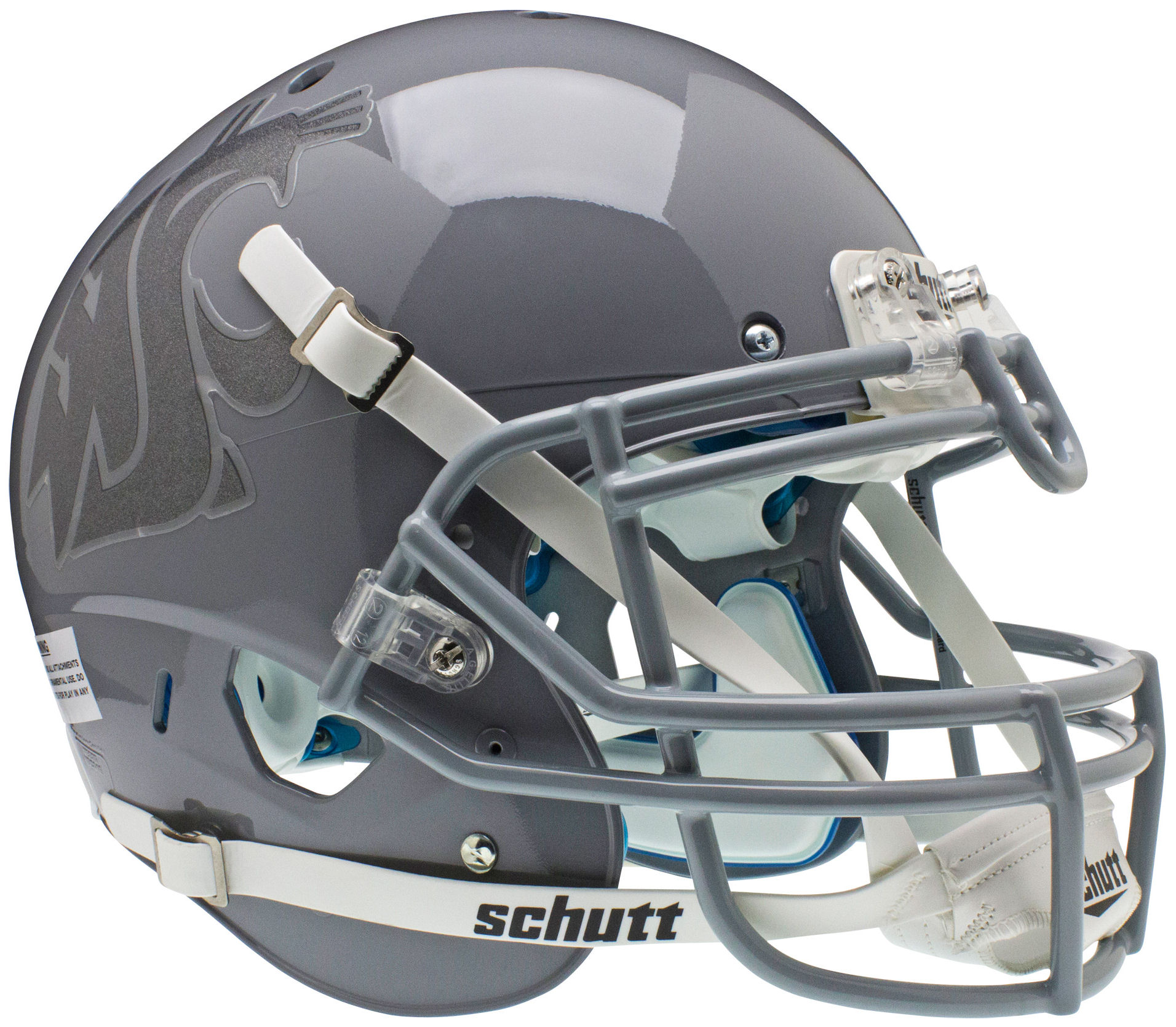 Washington State Cougars Authentic College XP Football Helmet Schutt <B>Gray/Gray</B>
