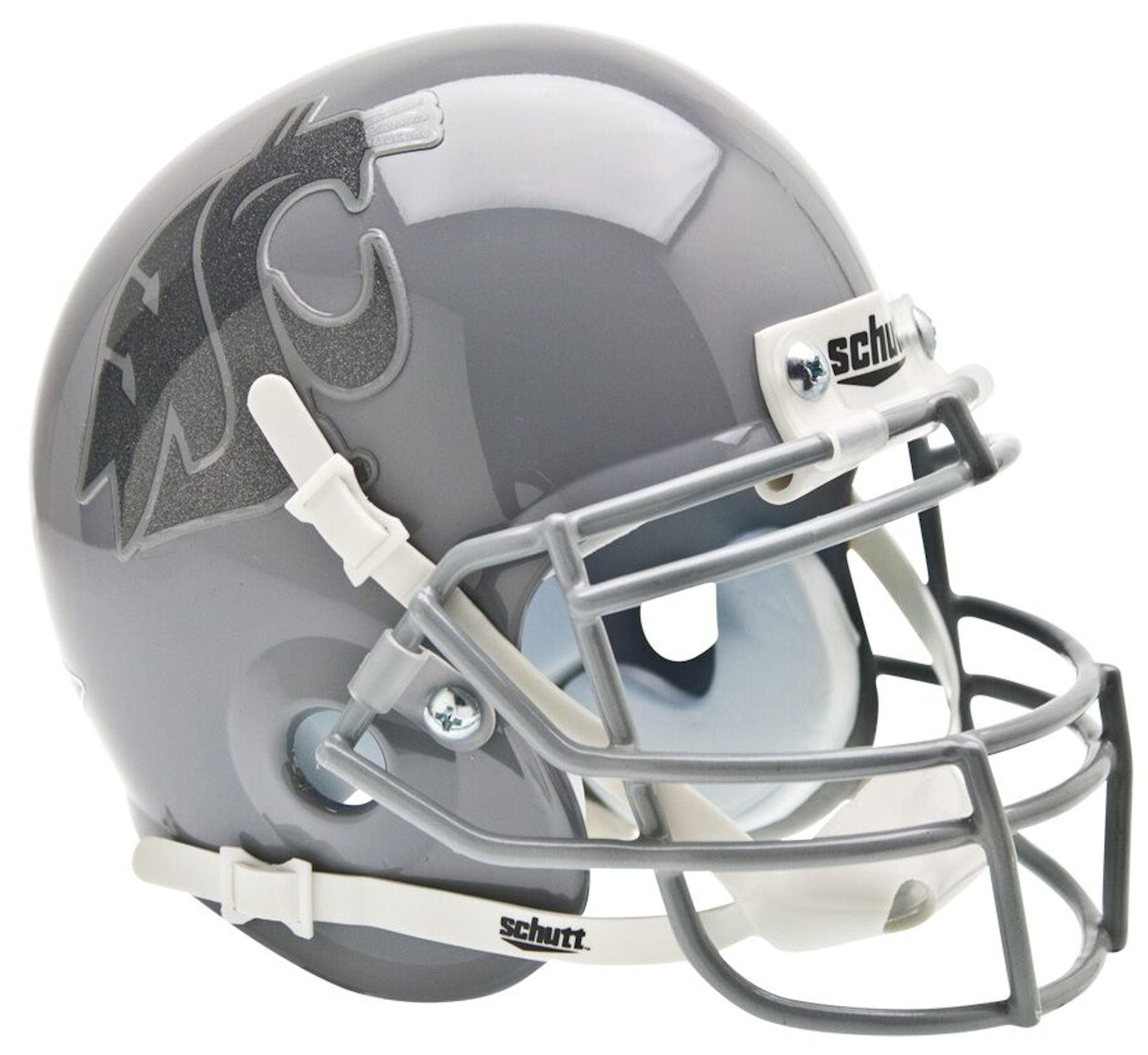 Washington State Cougars Mini XP Authentic Helmet Schutt <B>Gray/Gray</B>