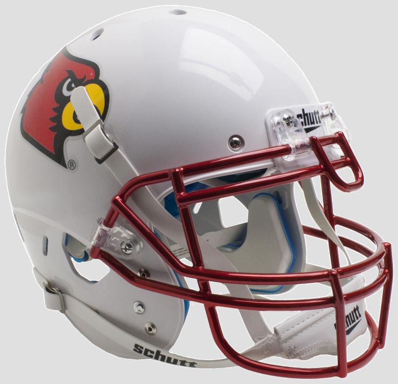 Louisville Cardinals Authentic College XP Football Helmet Schutt <B>Chrome Mask</B>
