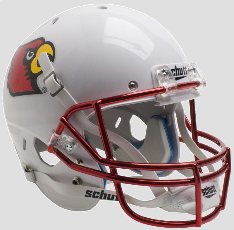 Louisville Cardinals Full XP Replica Football Helmet Schutt <B>Chrome Mask</B>