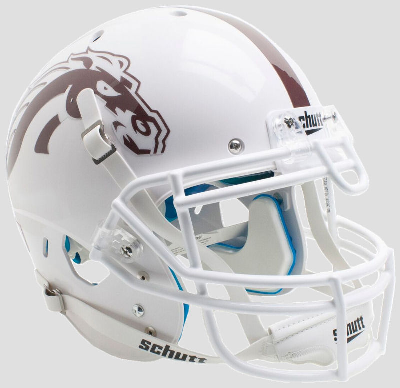 Western Michigan Broncos Authentic College XP Football Helmet Schutt <B>White with White Mask</B>