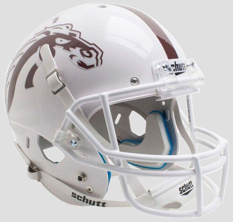 Western Michigan Broncos Full XP Replica Football Helmet Schutt <B>White with White Mask</B>