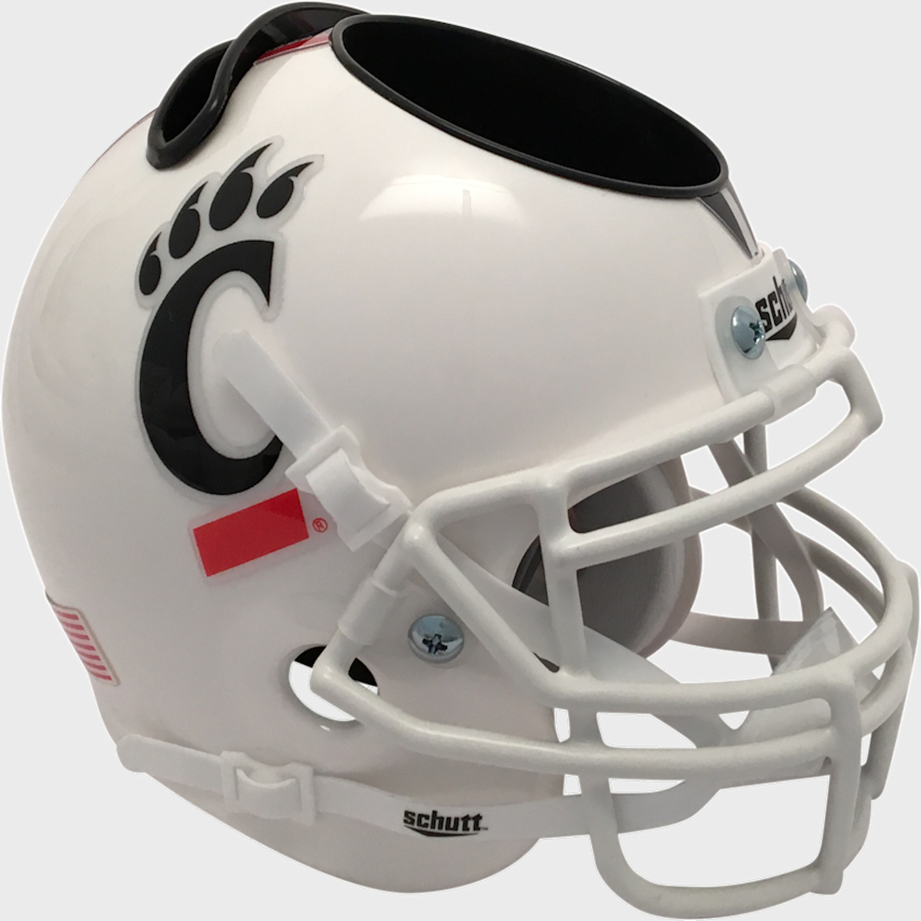 Cincinnati Bearcats Mini Football Helmet Desk Caddy <B>Tribal Stripe</B>