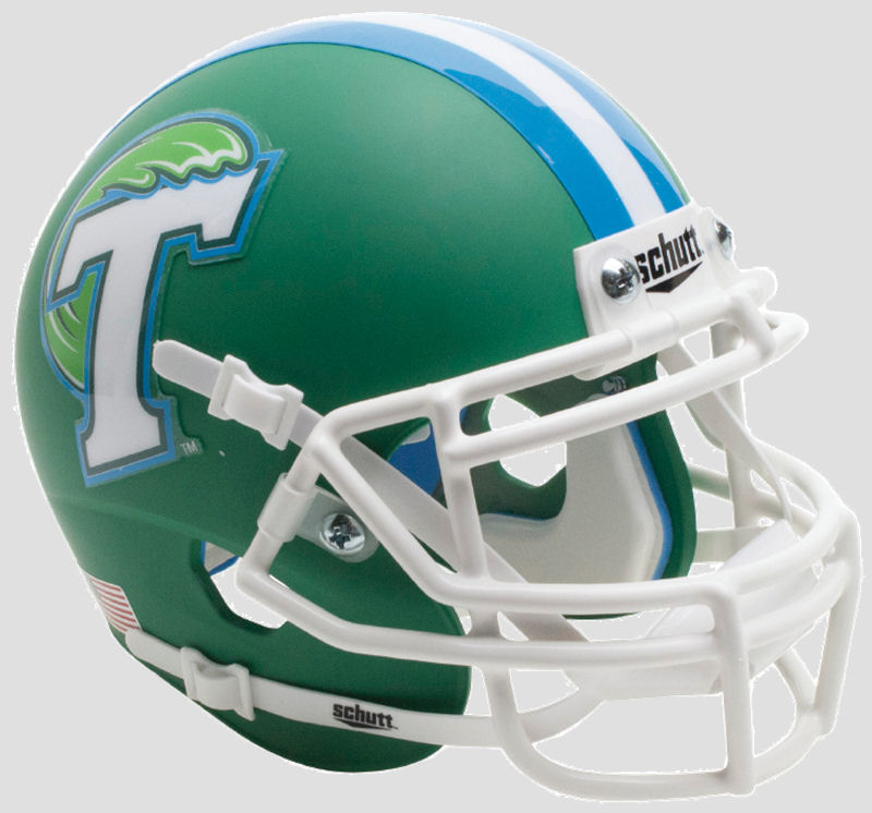 Tulane Green Wave Full XP Replica Football Helmet Schutt <B>Green</B>