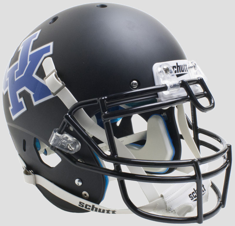 Kentucky Wildcats Authentic College XP Football Helmet Schutt <B>Matte Black</B>