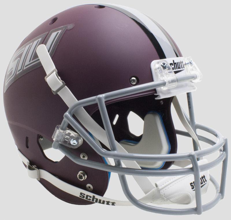 Southern Illinois Salukis Full XP Replica Football Helmet Schutt <B>Matte Maroon</B>