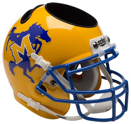 McNeese State Cowboys Miniature Football Helmet Desk Caddy