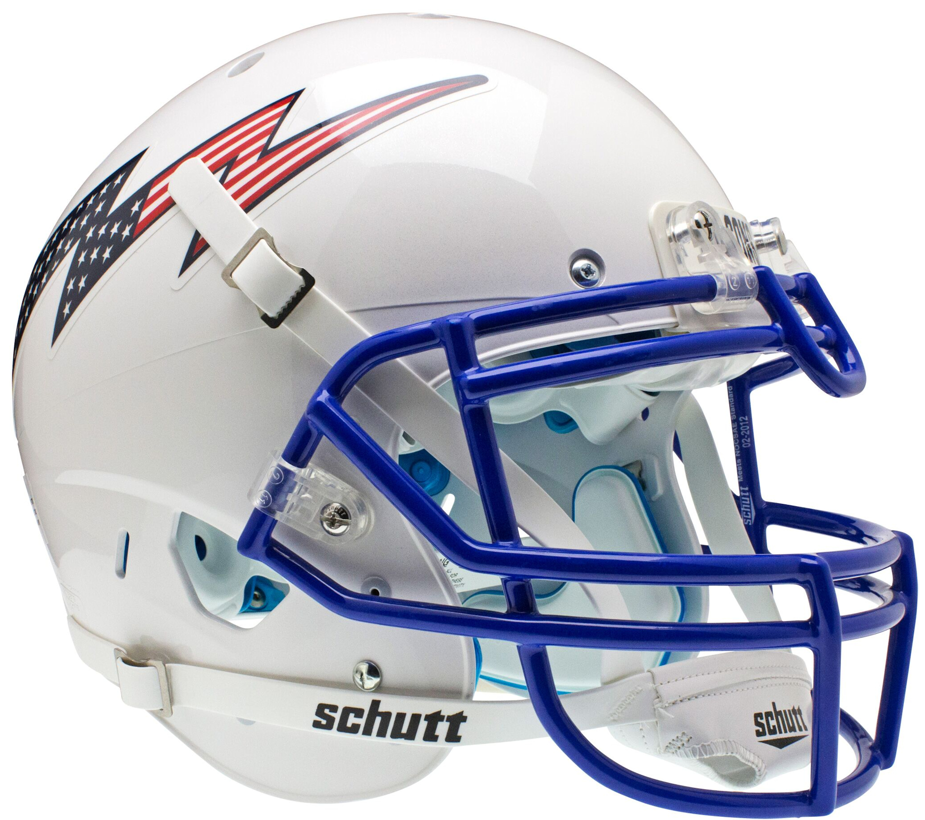 Air Force Falcons Authentic College XP Football Helmet Schutt <B>Flag Bolt</B>