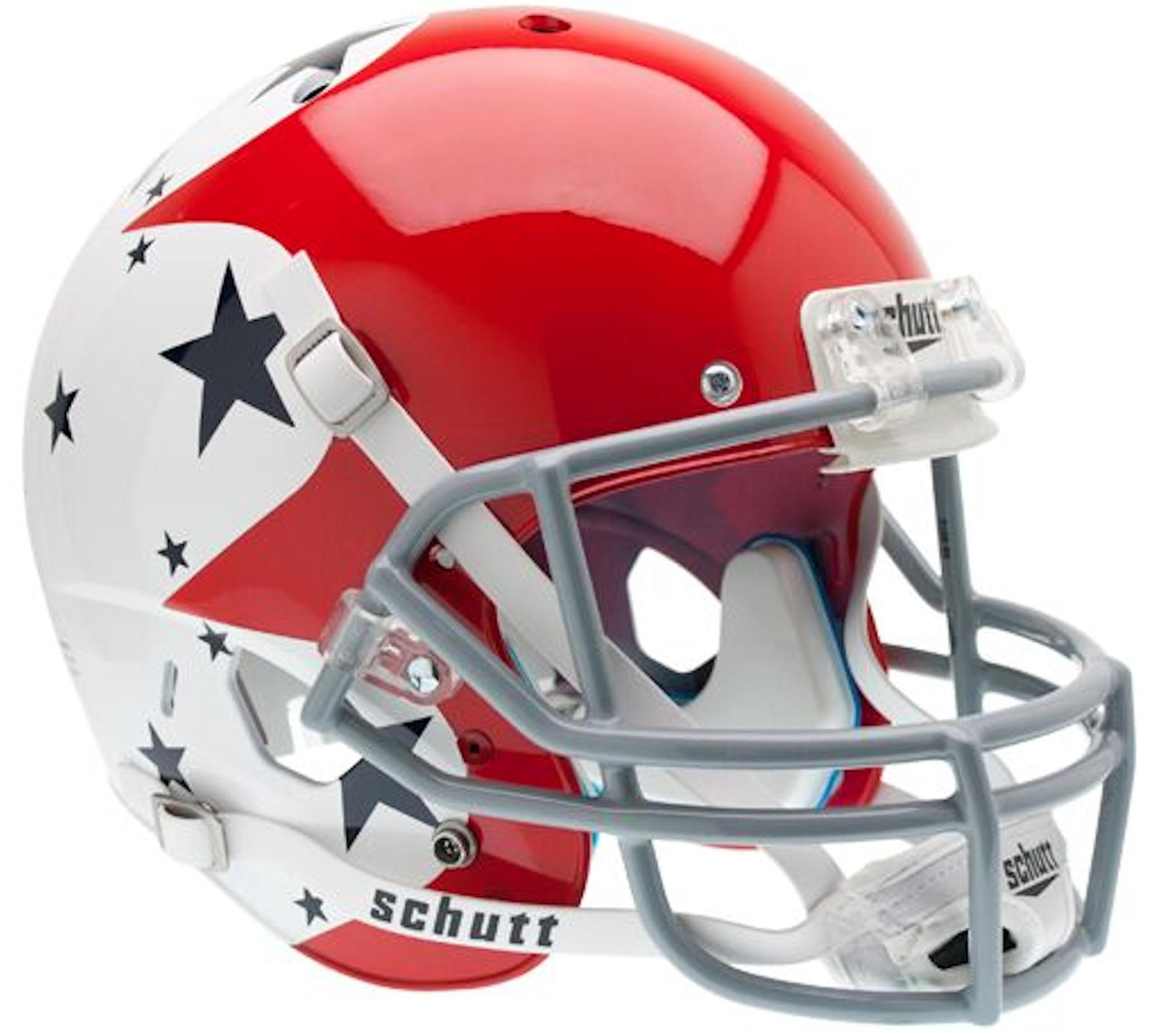 Air Force Falcons Full XP Replica Football Helmet Schutt <B>Stars</B>