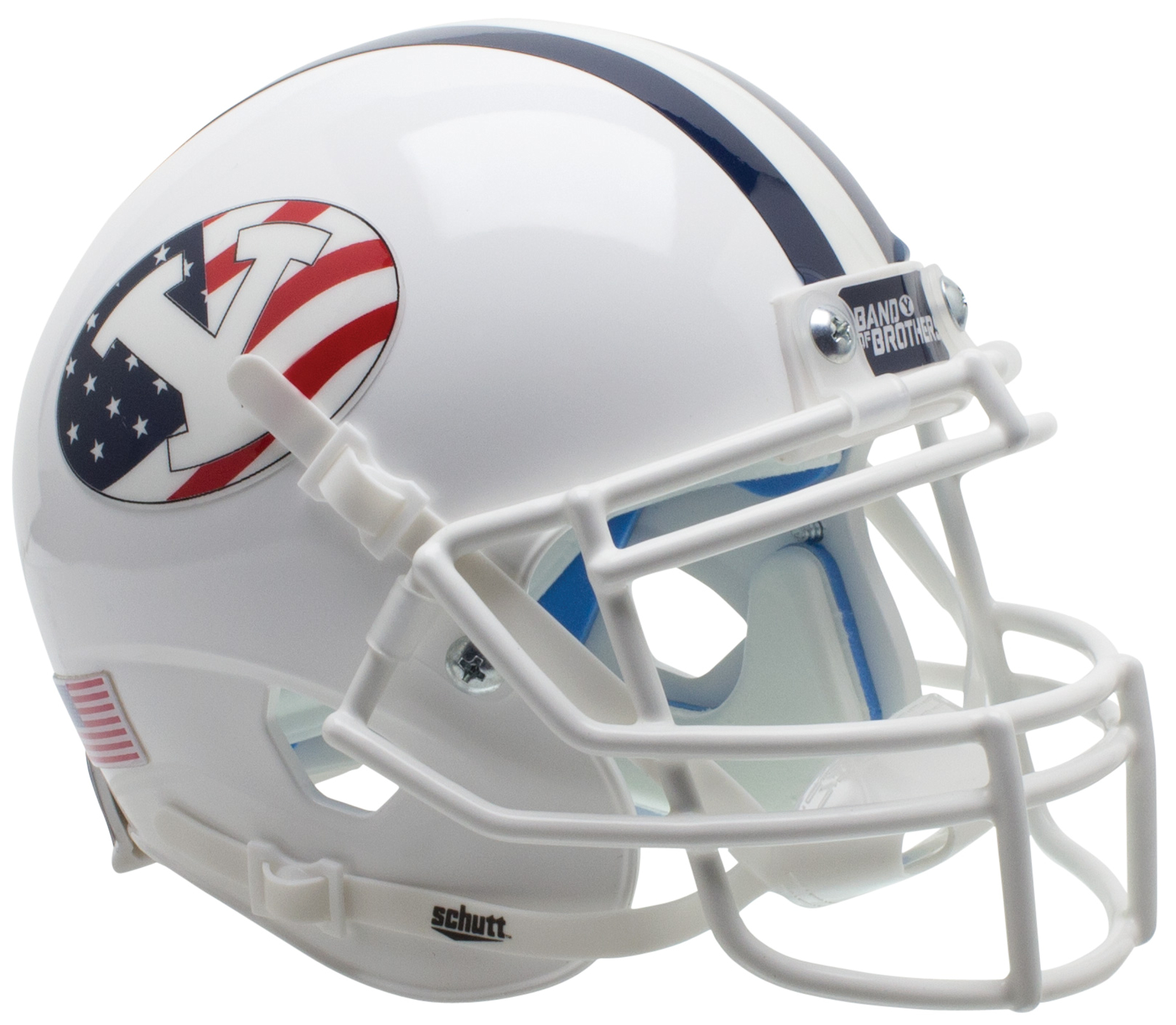 Brigham Young Cougars Mini XP Authentic Helmet Schutt <B>Never Forget</B>