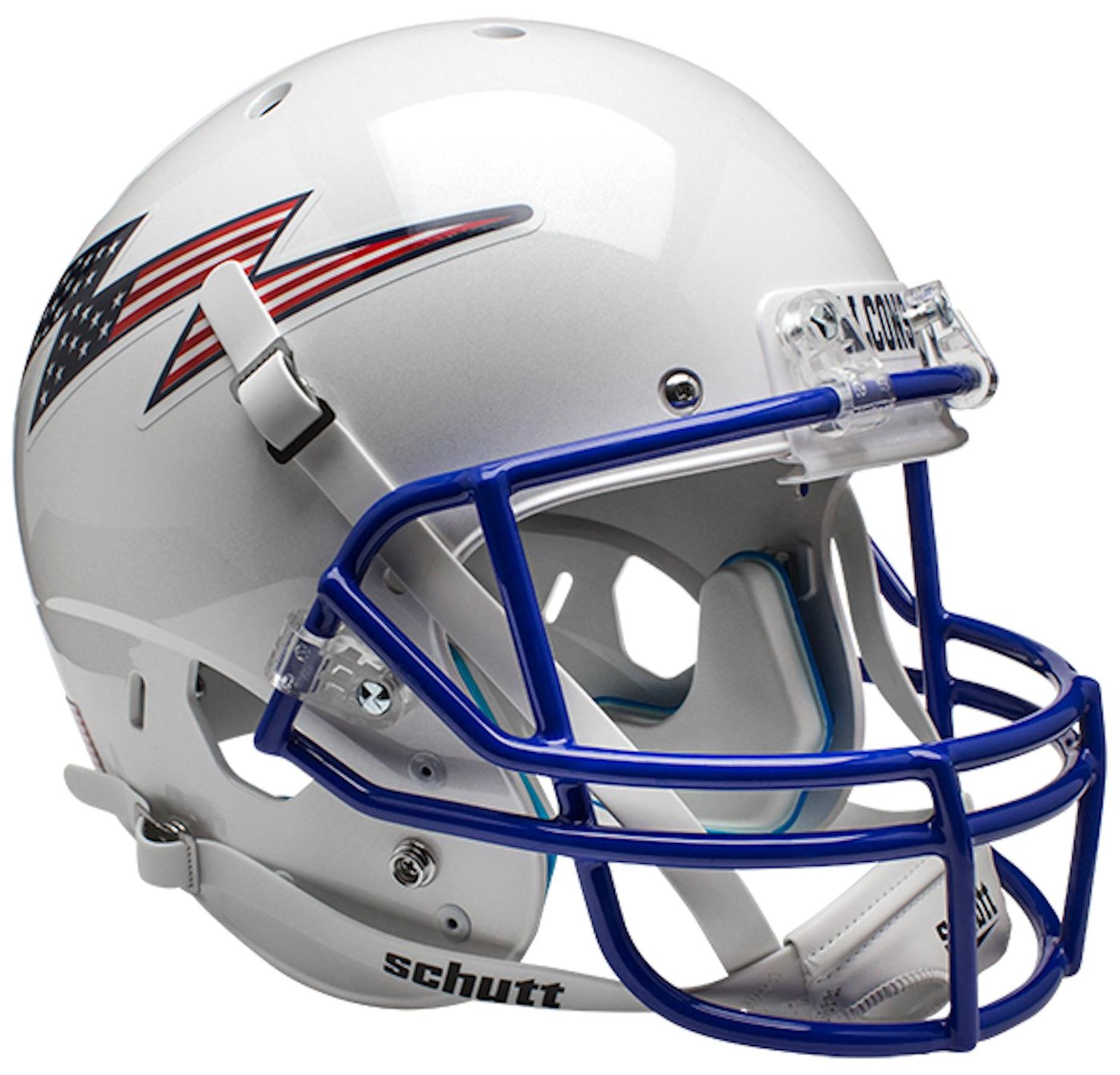 Air Force Falcons Full XP Replica Football Helmet Schutt <B>Flag Bolt</B>