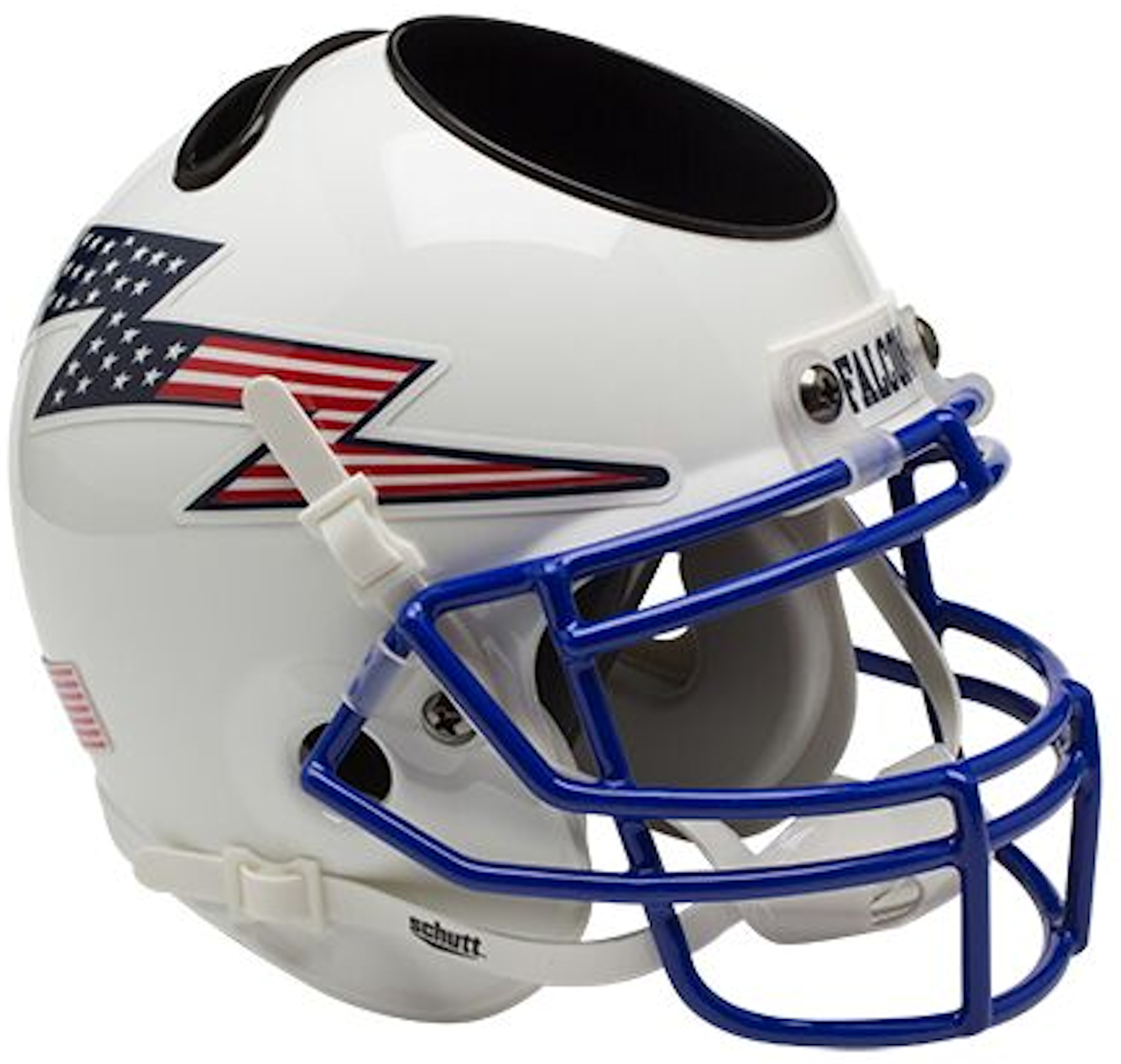 Air Force Falcons Mini Football Helmet Desk Caddy <B>Flag Bolt</B>