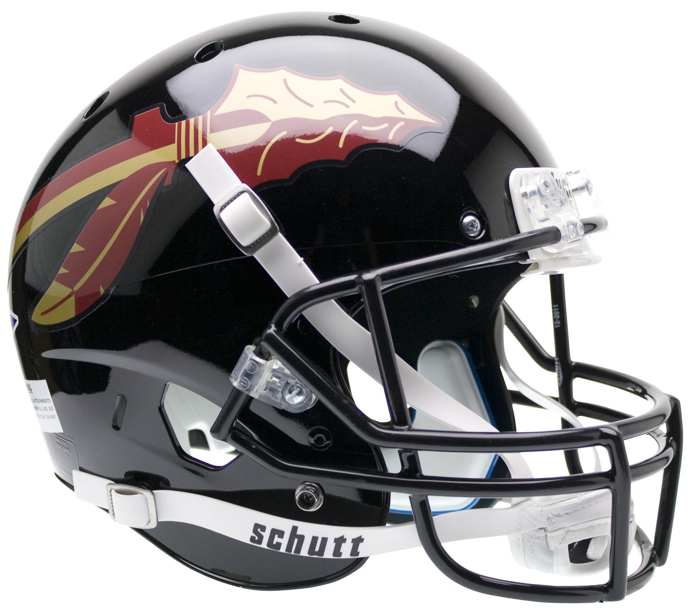 Florida State Seminoles Full XP Replica Football Helmet Schutt <B>Black</B>