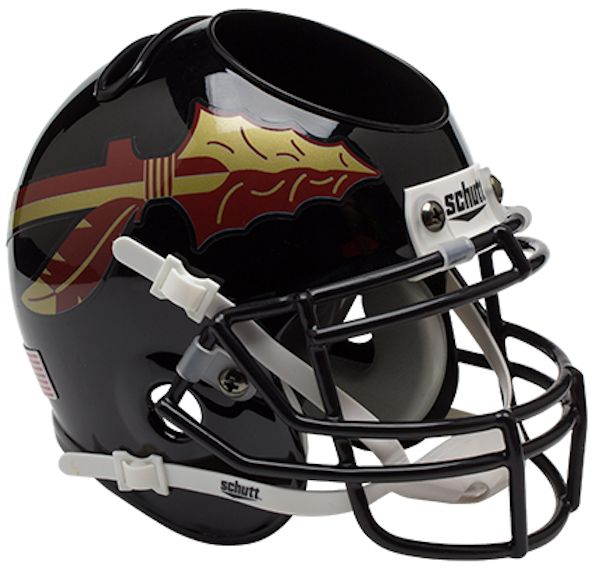Florida State Seminoles Miniature Football Helmet Desk Caddy <B>Black</B>