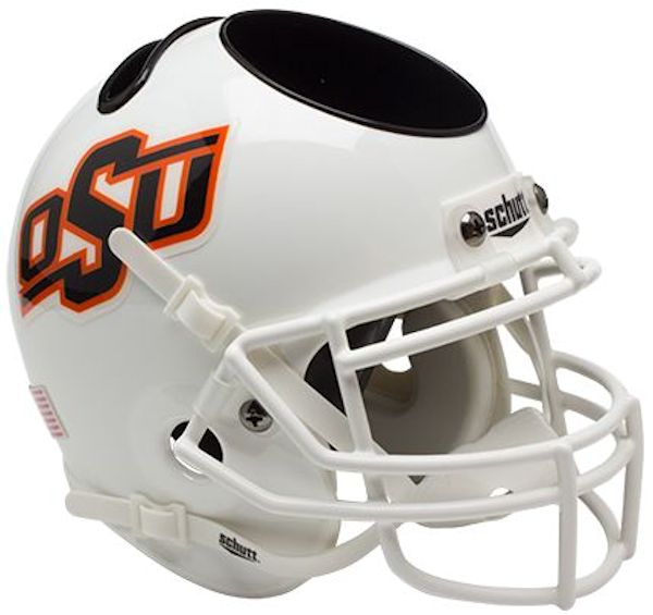 Oklahoma State Cowboys Miniature Football Helmet Desk Caddy <B>White</B>