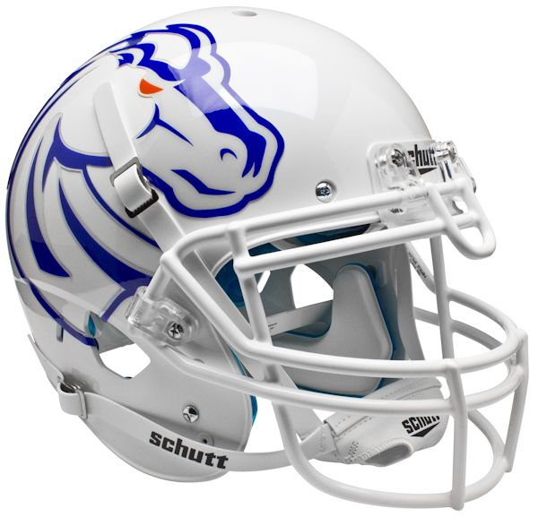 Boise State Broncos Authentic College XP Football Helmet Schutt <B>White</B>