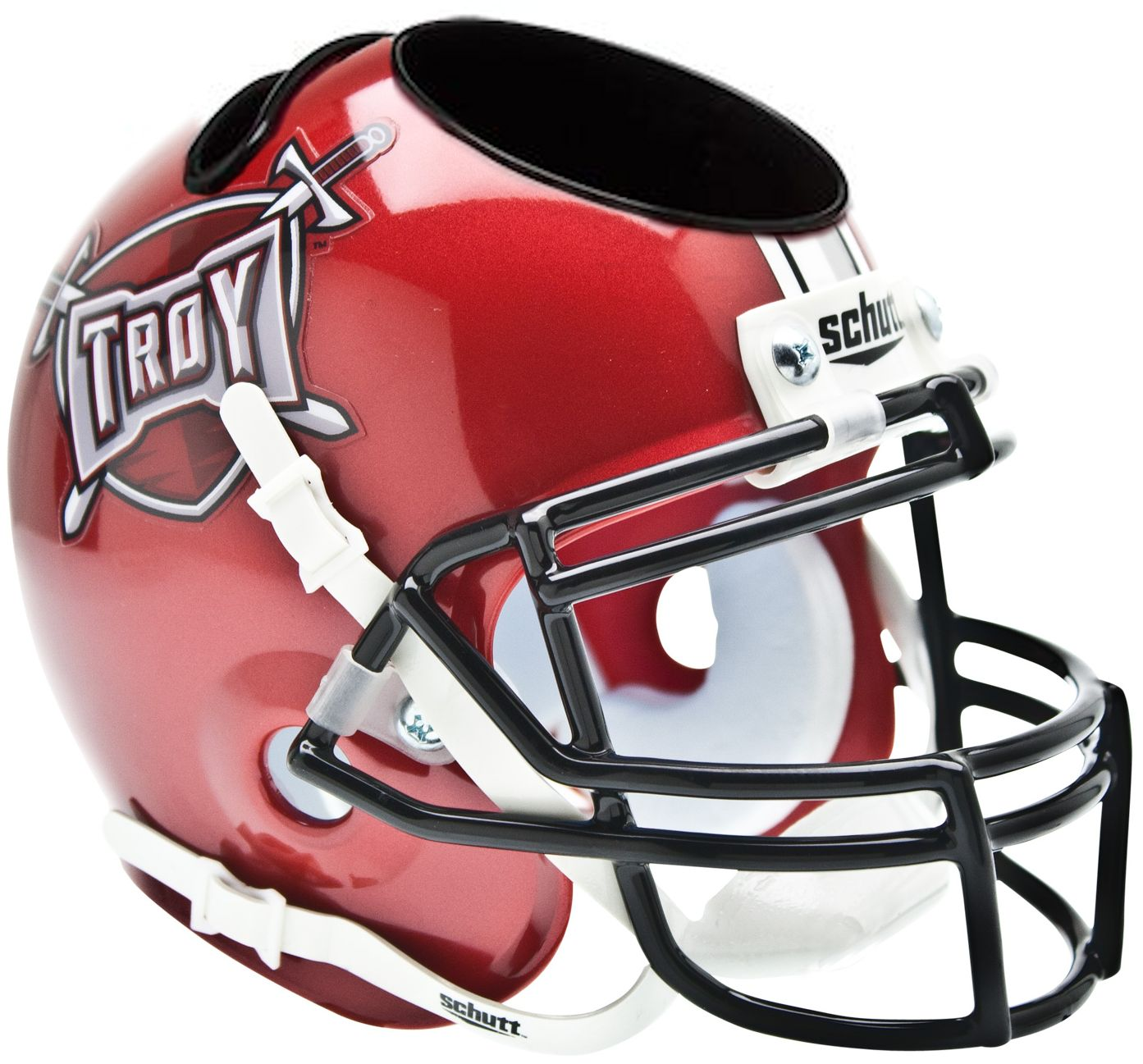 Troy State Trojans Miniature Football Helmet Desk Caddy