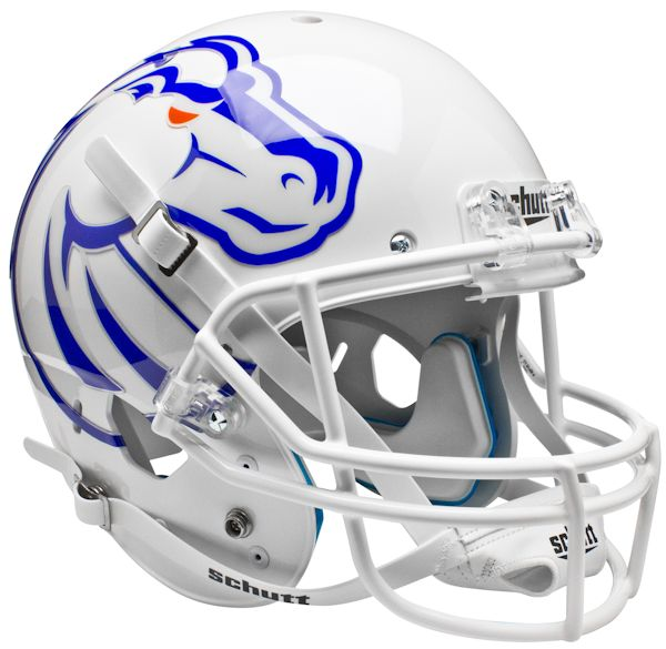 Boise State Broncos Full XP Replica Football Helmet Schutt <B>White</B>