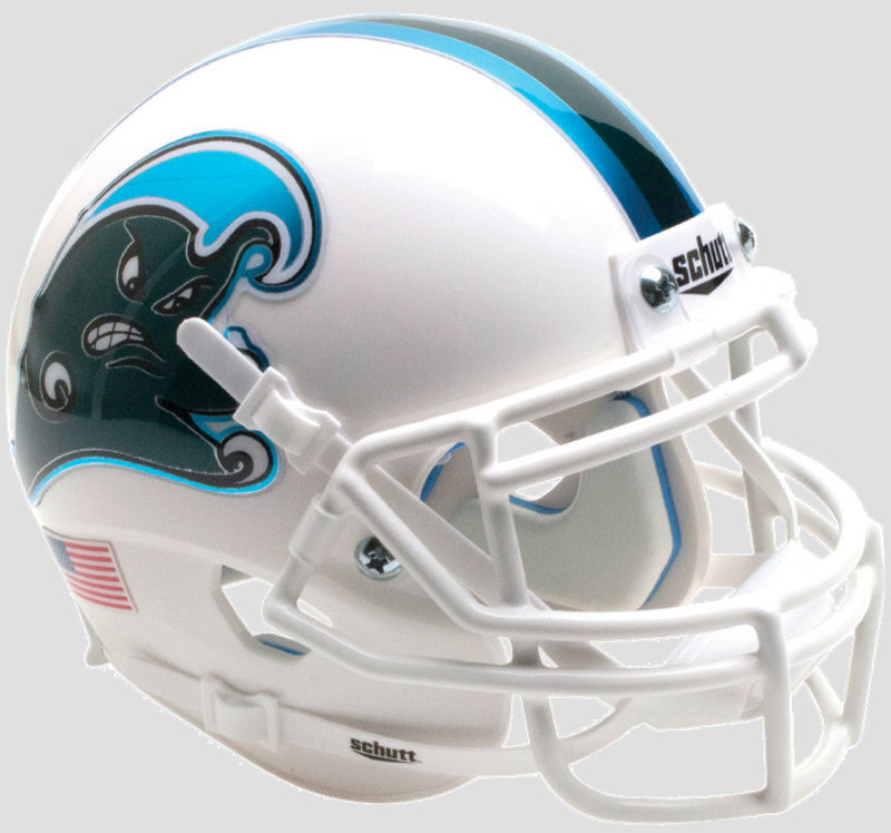 Tulane Green Wave Full XP Replica Football Helmet Schutt <B>Angry Wave</B>