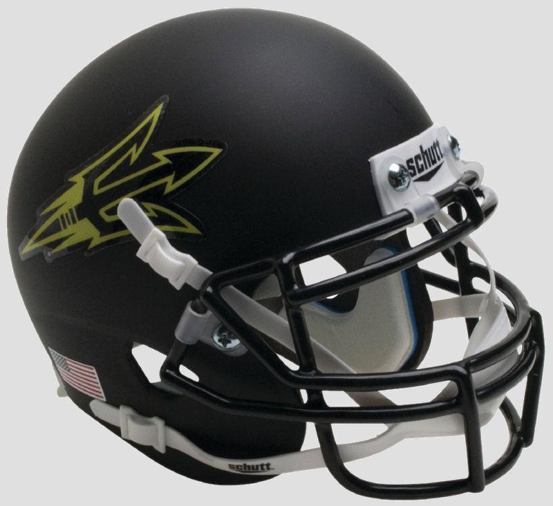 Arizona State Sun Devils Full XP Replica Football Helmet Schutt <B>Matte Black Small Pitchfork</B>