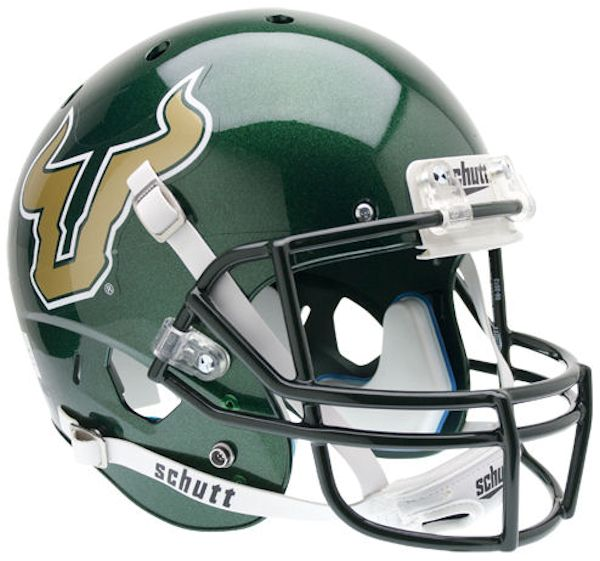 South Florida Bulls Full XP Replica Football Helmet Schutt <B>Green</B>