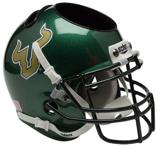 South Florida Bulls Miniature Football Helmet Desk Caddy <B>Green</B>