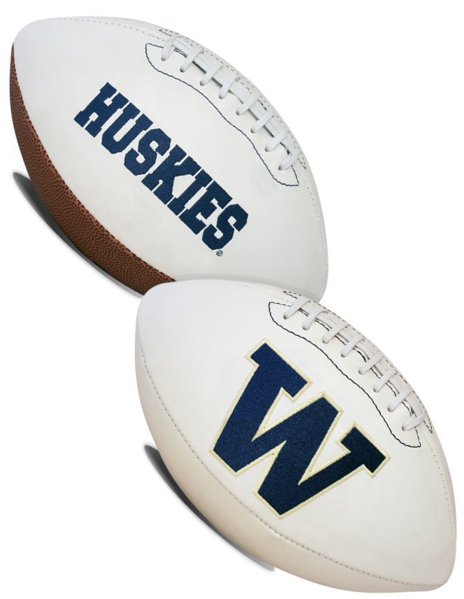 Washington Huskies NCAA Signature Series Full Size Football