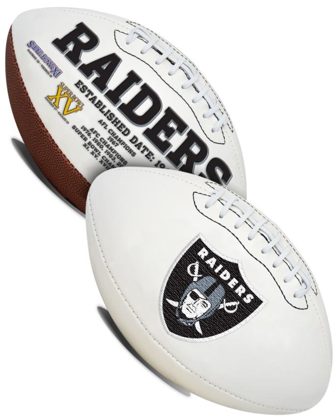 Las Vegas Raiders NFL Signature Series Full Size Football