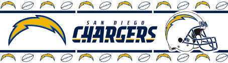 San Diego Chargers Wallpaper Border