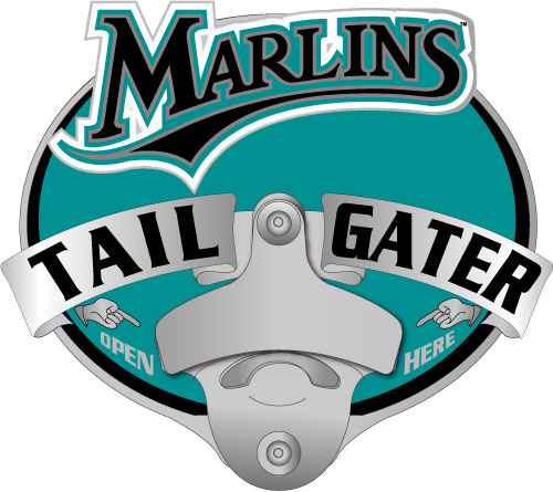 Florida Marlins Hitch Cover Bottle Opener