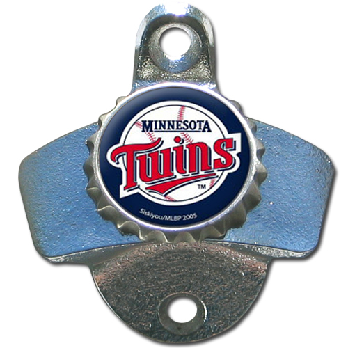 Minnesota Twins Wall Mounted Bottle Opener