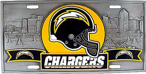 San Diego Chargers License Plate 3D