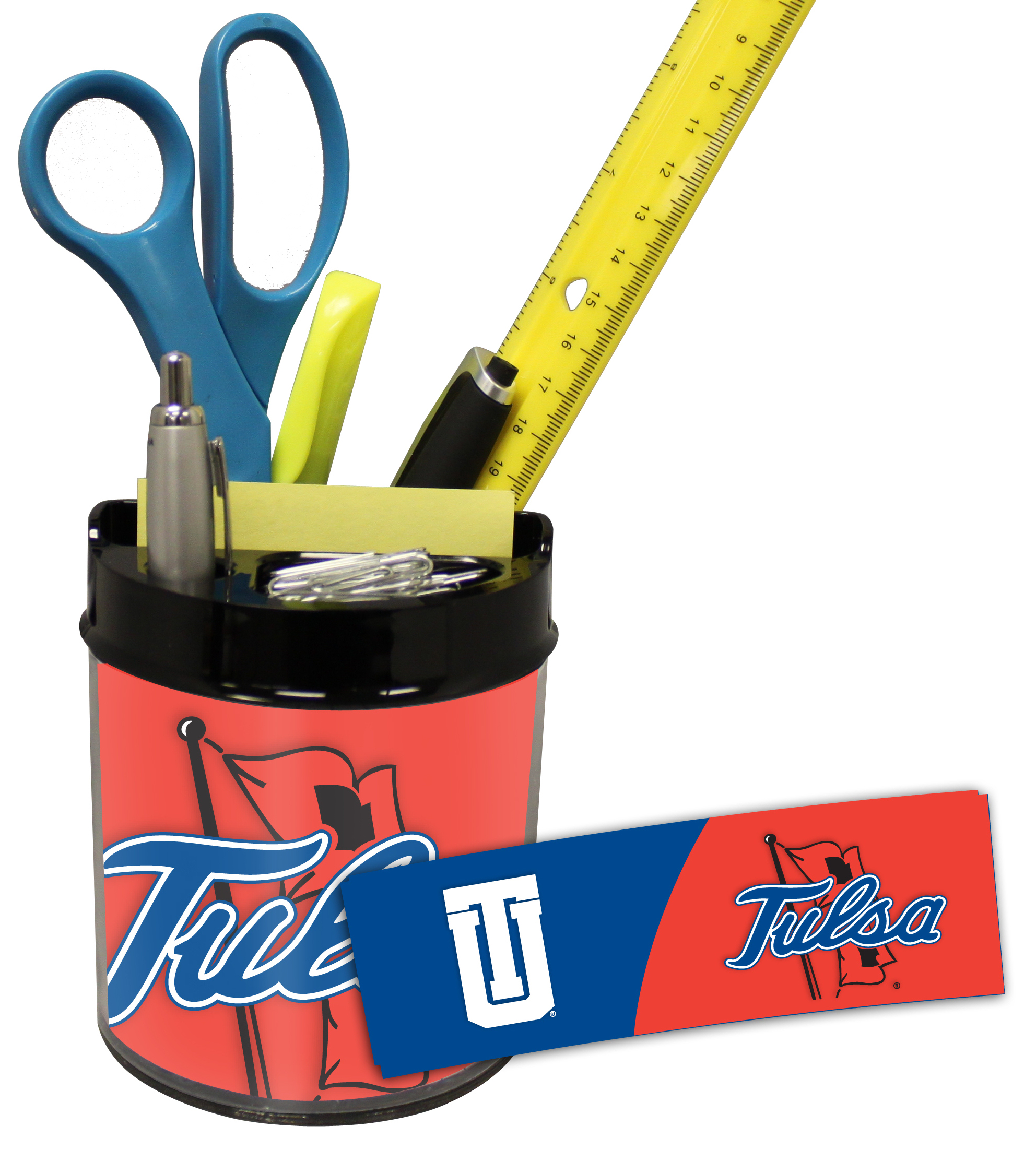 Tulsa Golden Hurricane Small Desk Caddy
