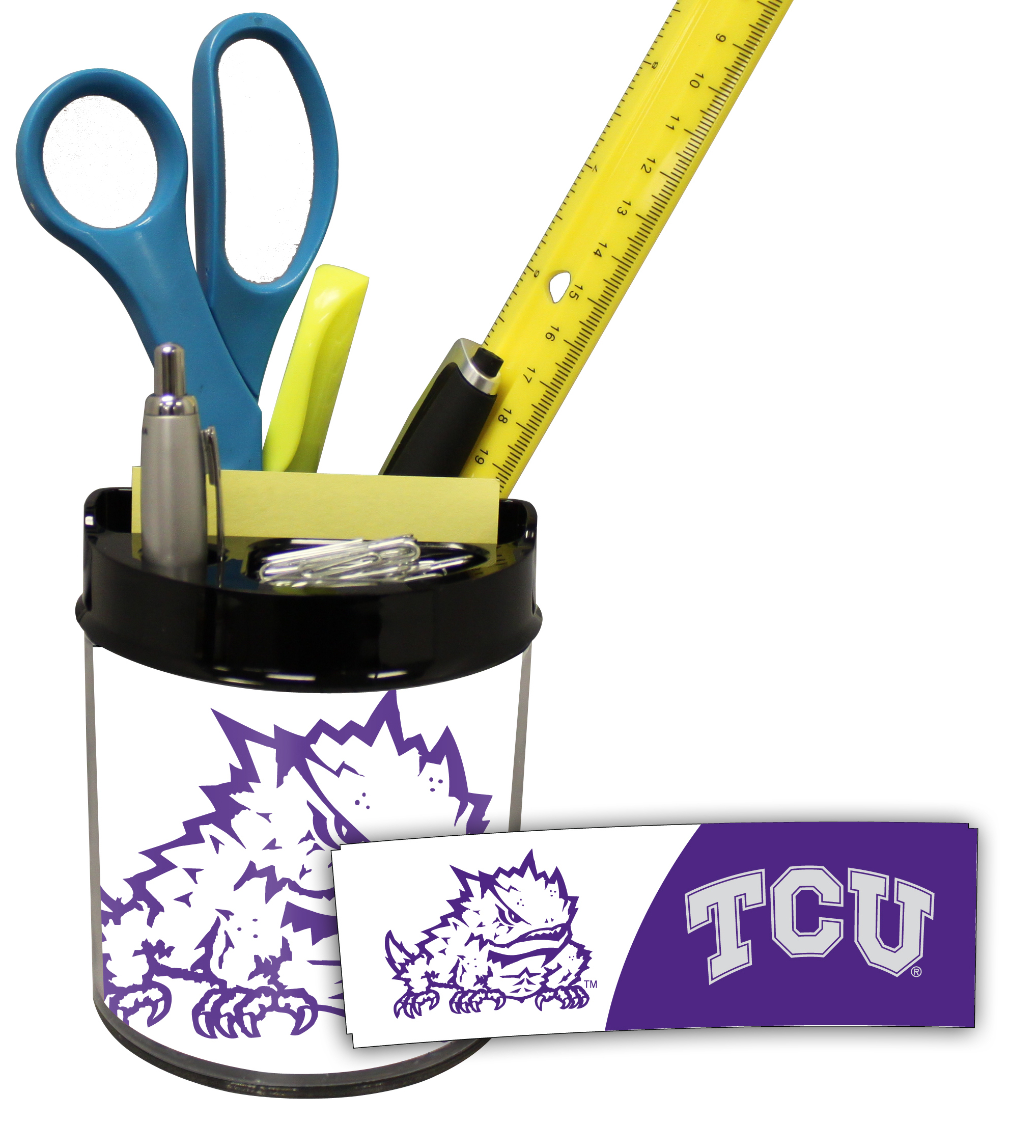 TCU Horned Frogs Small Desk Caddy