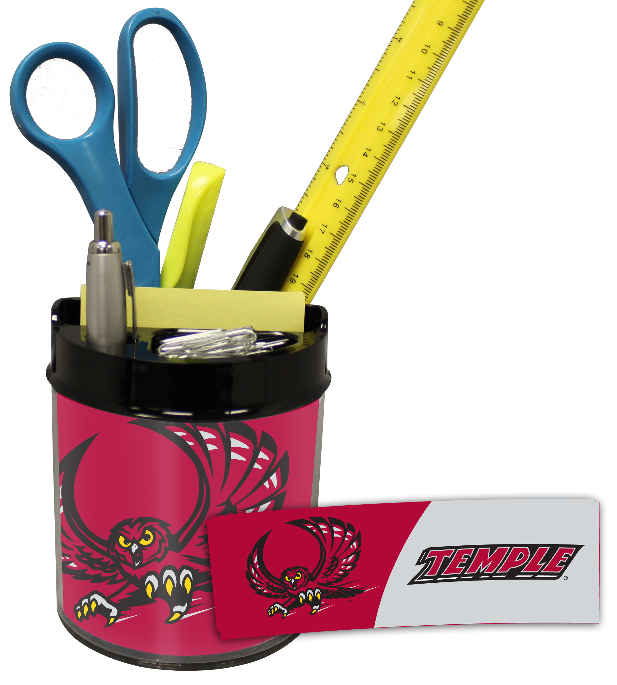 Temple Owls Small Desk Caddy
