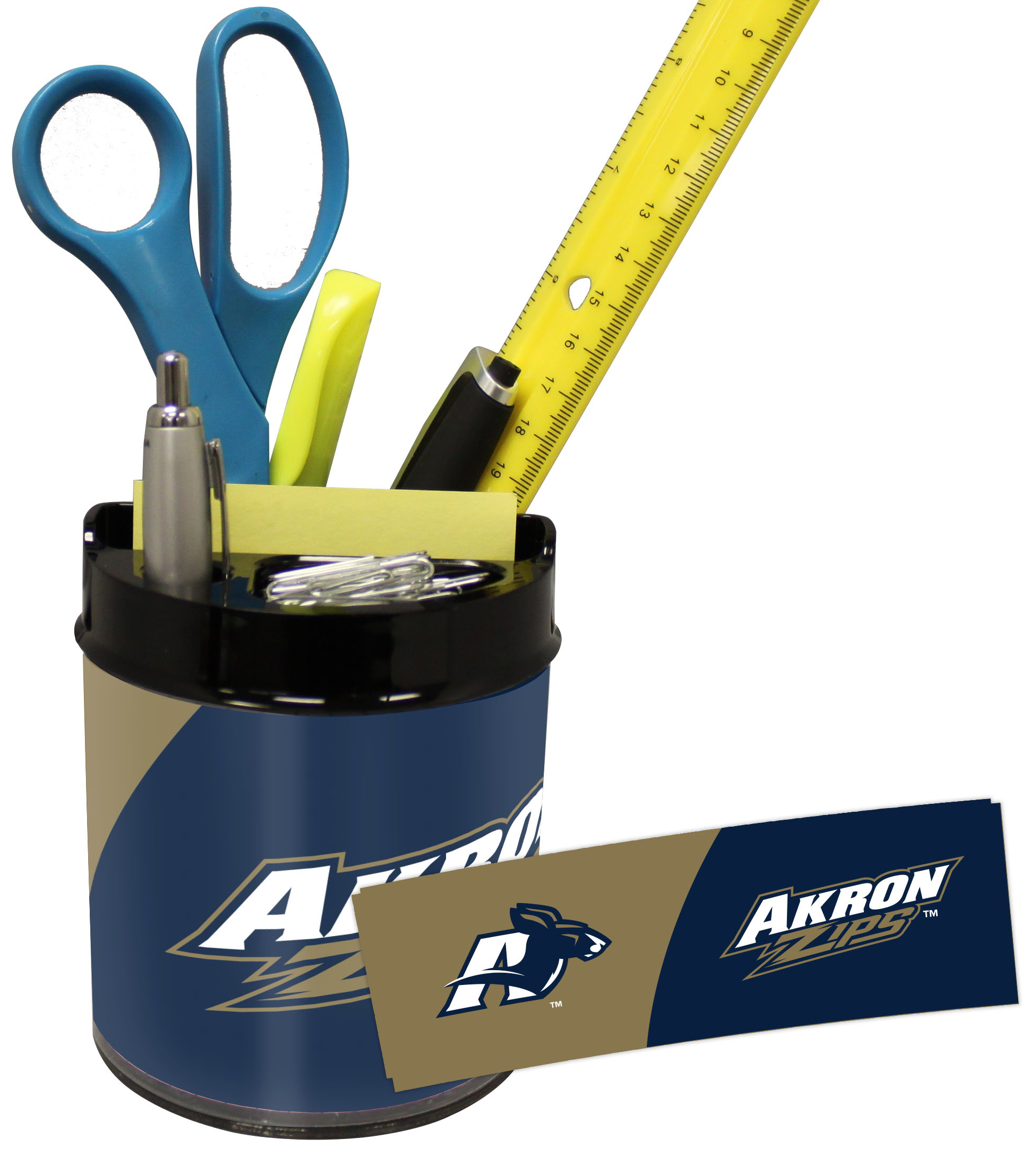 Akron Zips Small Desk Caddy