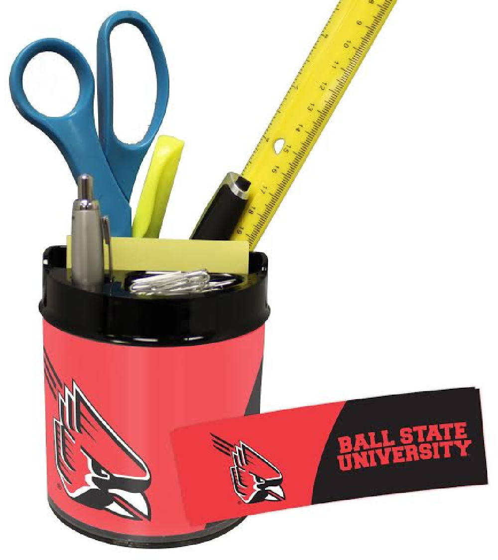 Ball State Cardinals Small Desk Caddy