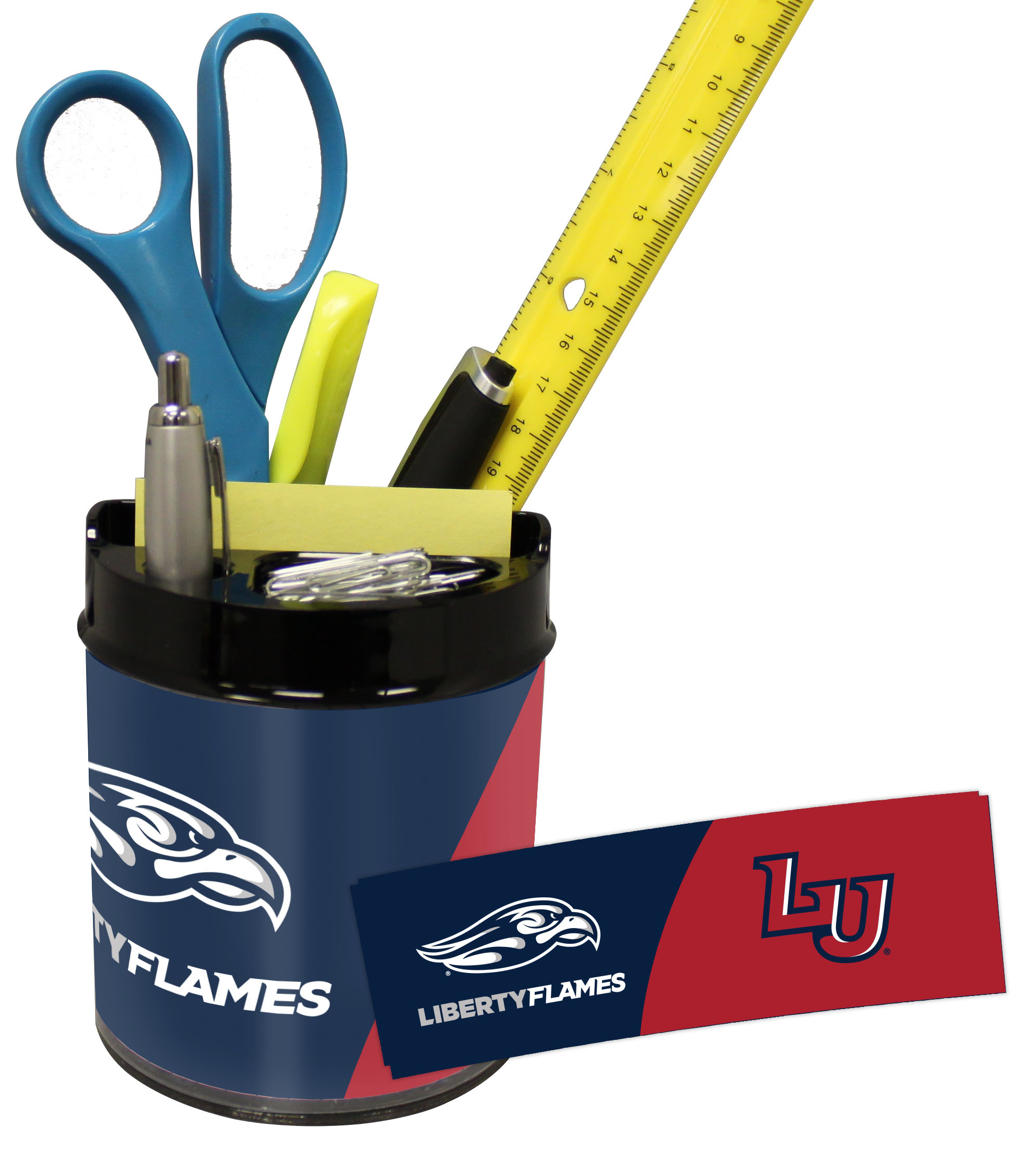 Liberty Flames Mini Football Helmet Desk Caddy