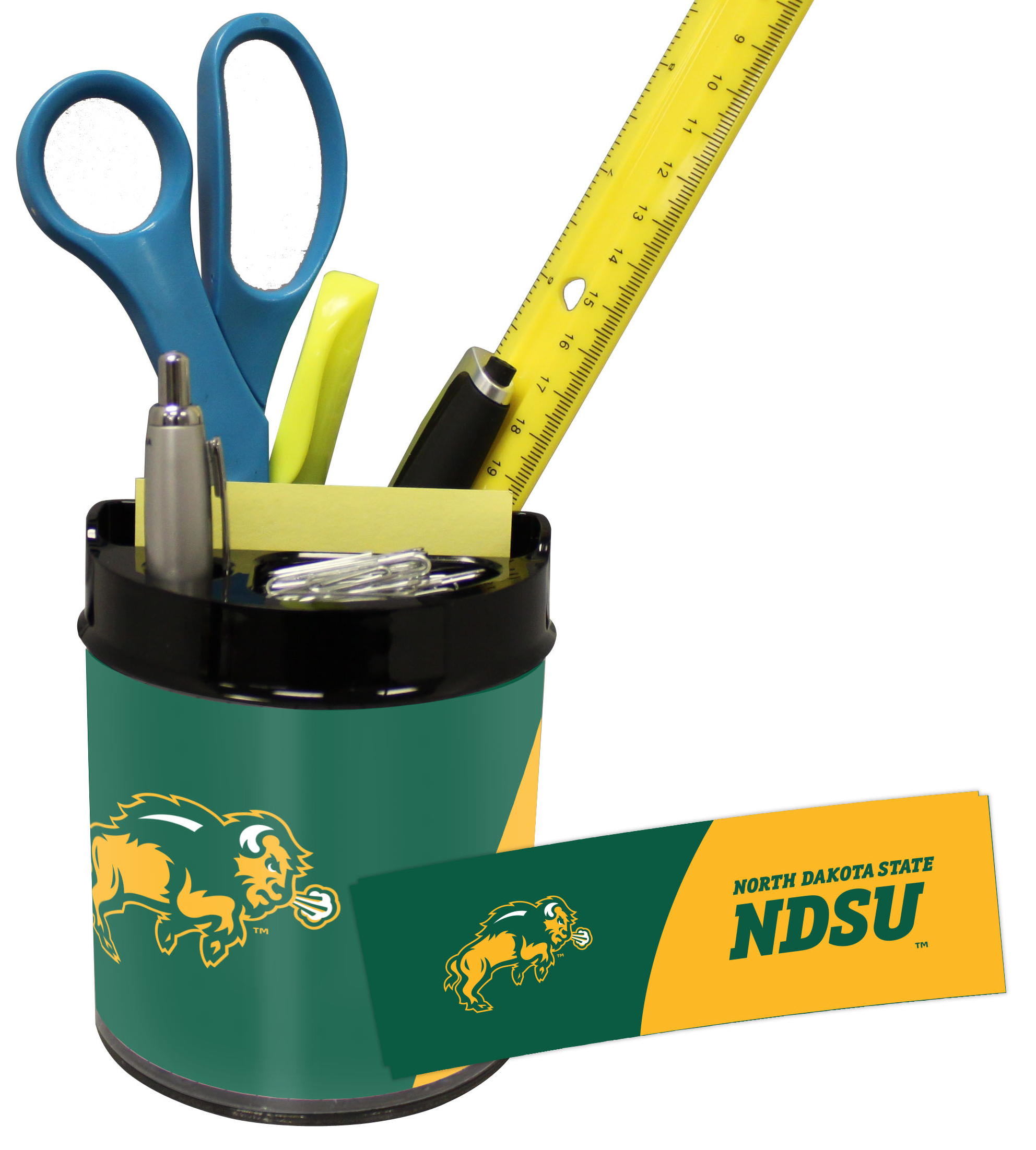 North Dakota State Bison Small Desk Caddy