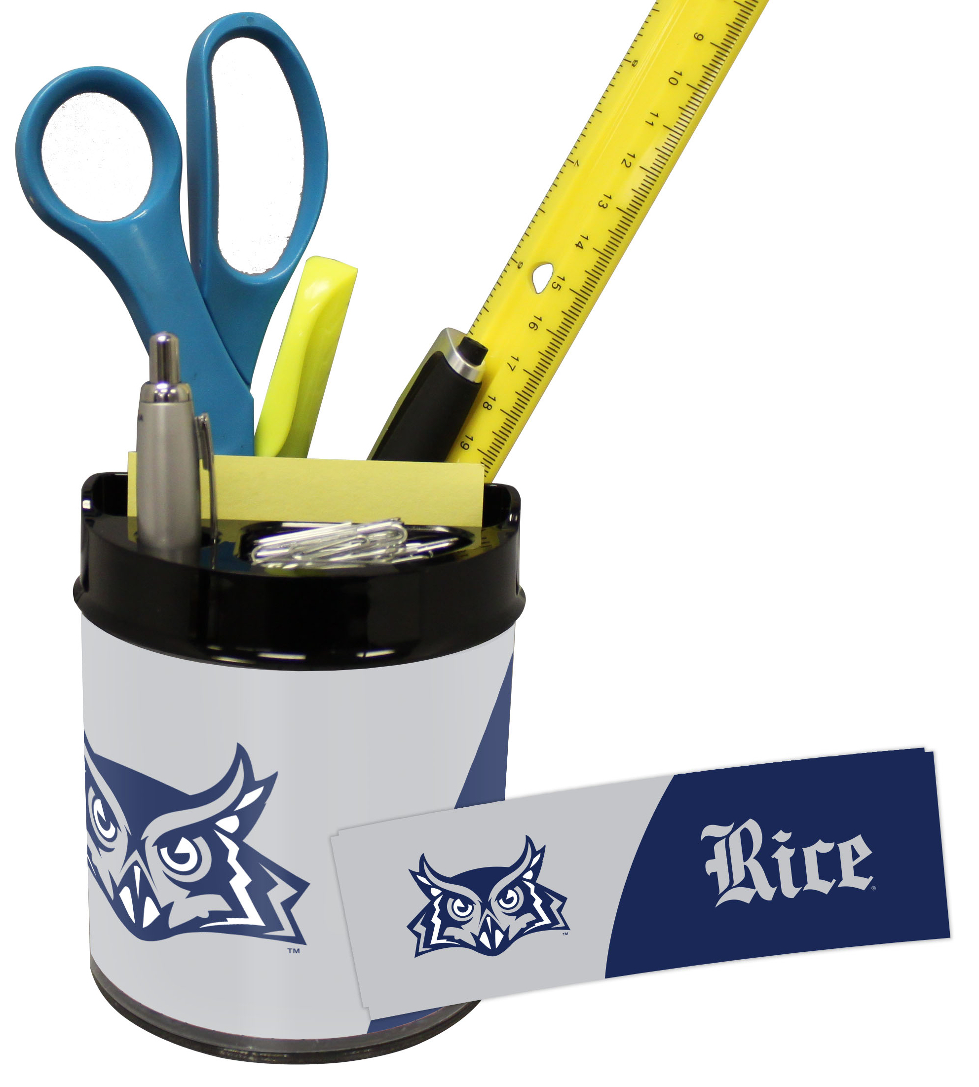 Rice Owls Small Desk Caddy