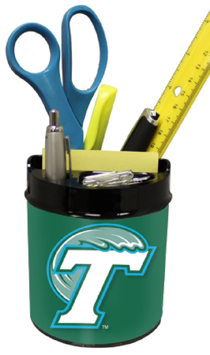 Tulane Green Wave Small Desk Caddy