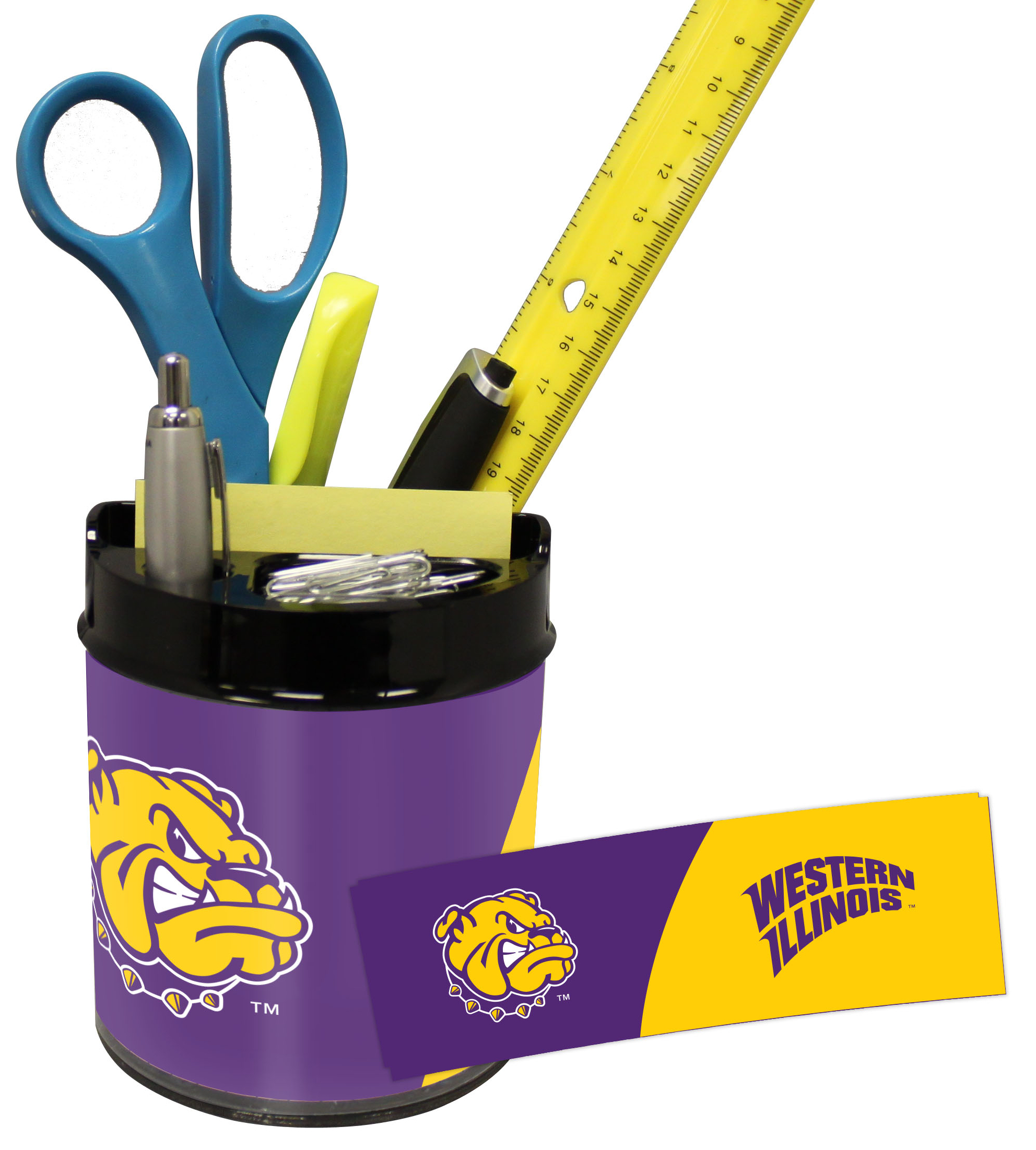 Western Illinois Leathernecks Small Desk Caddy