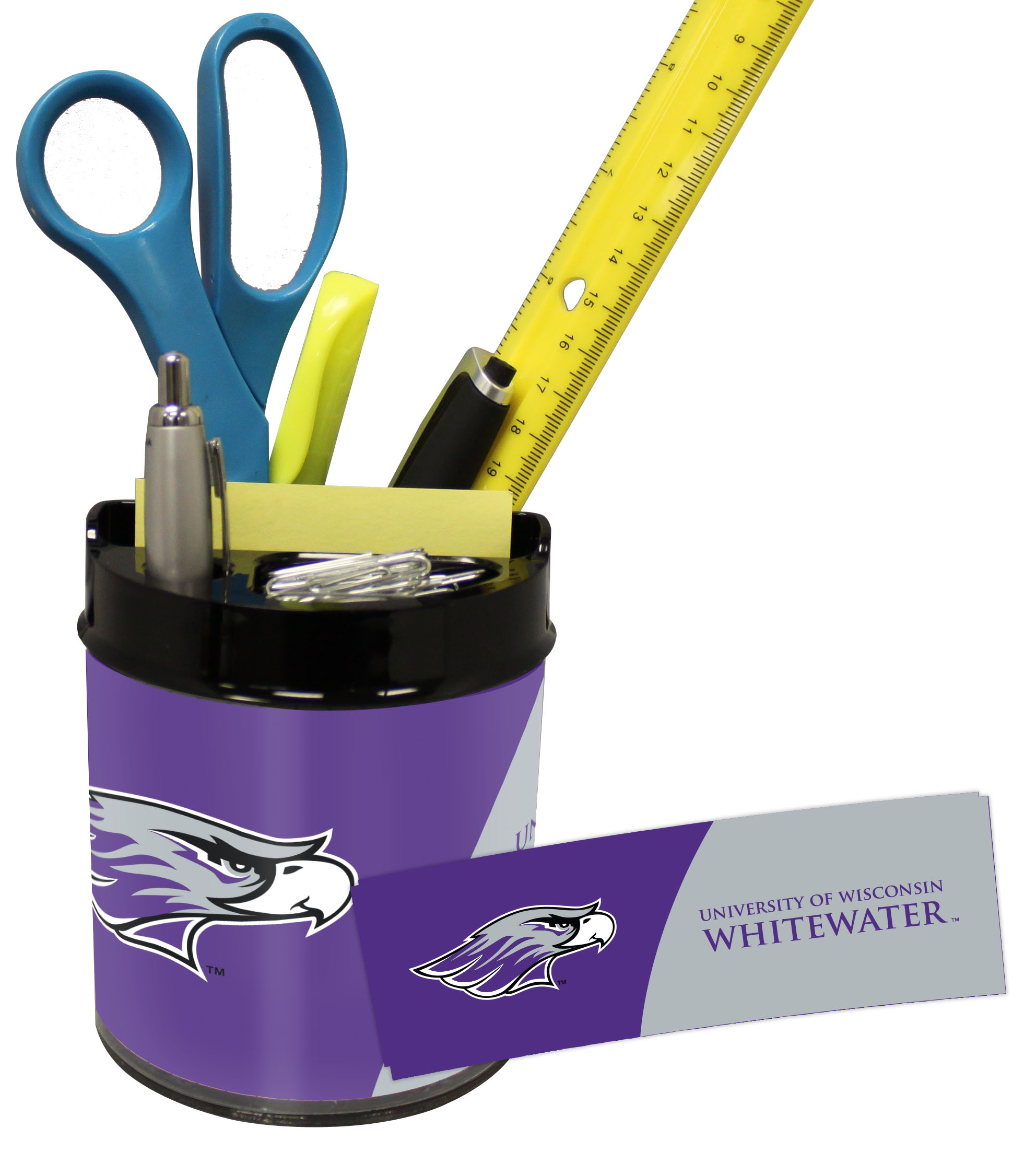 Wisconsin Whitewater Warhawks Small Desk Caddy