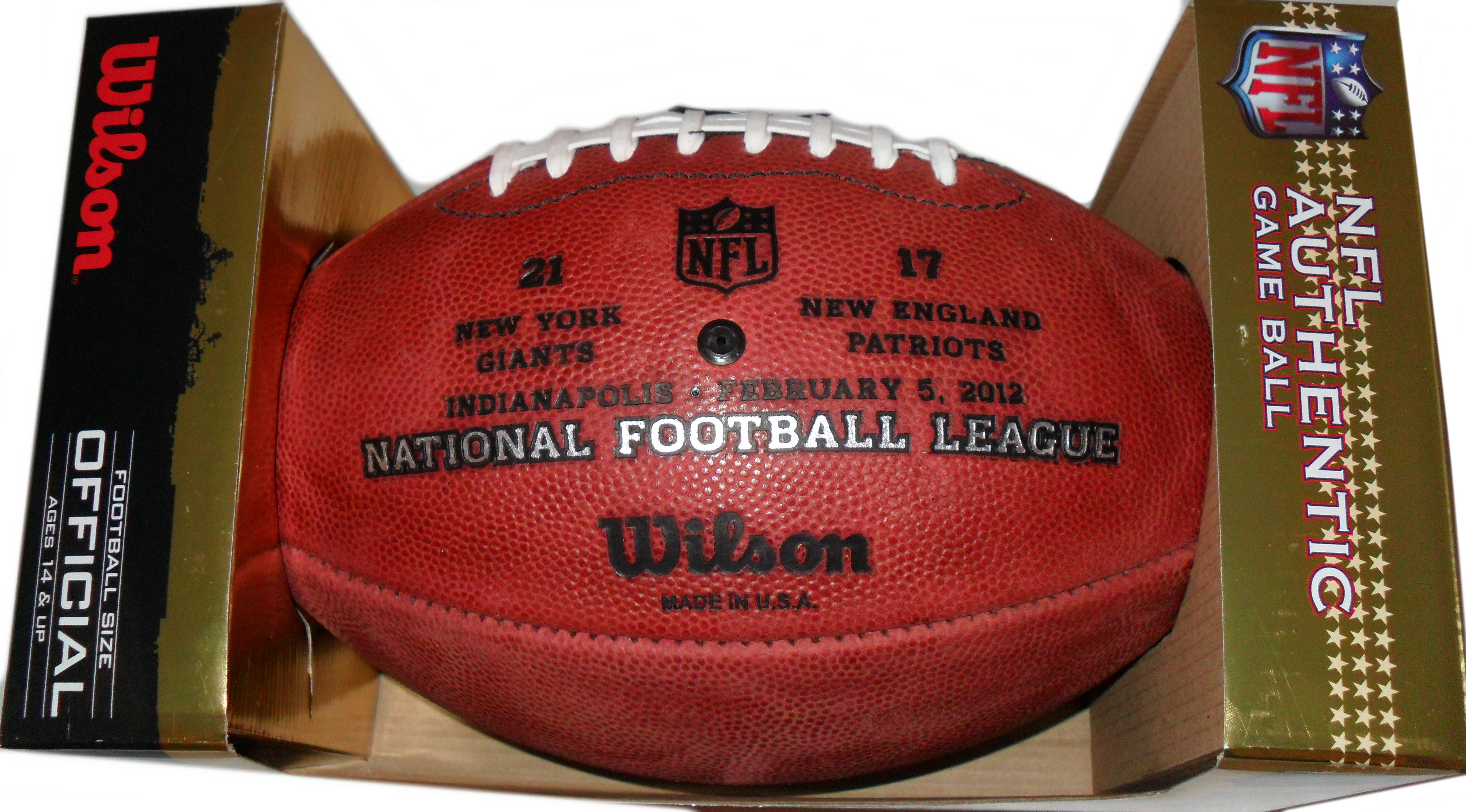 Wilson Football Super Bowl 46 Limited Edition Giants vs Patriots
