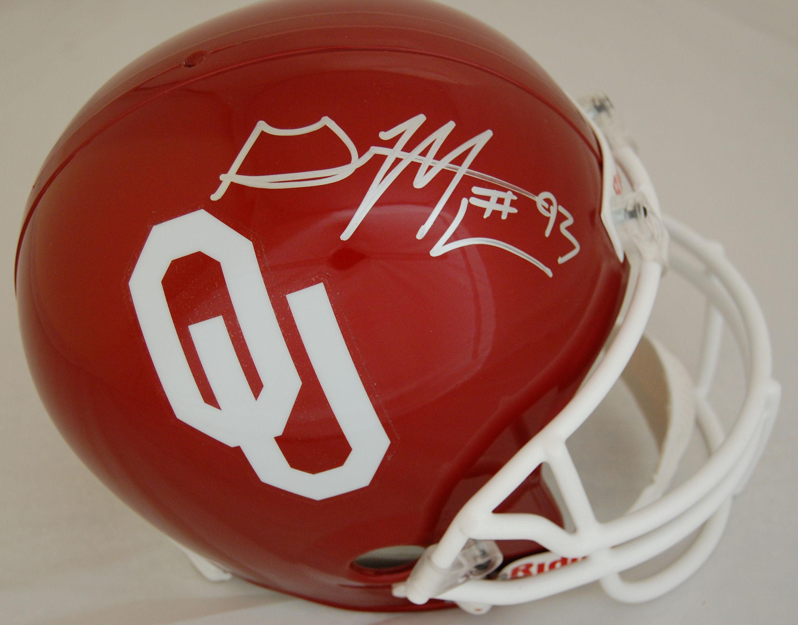 Gerald Mccoy Oklahoma Sooners Autographed Full Size Replica Helmet
