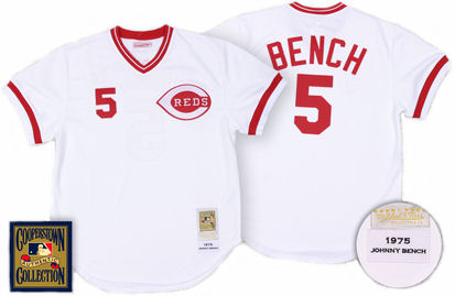 Cincinnati Reds Johnny Bench 1975 Home Jersey - 46 (L)