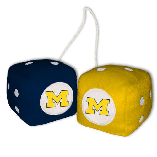 Michigan Wolverines Fuzzy Dice
